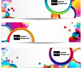 Abstract banner with Colored circular design vector 01