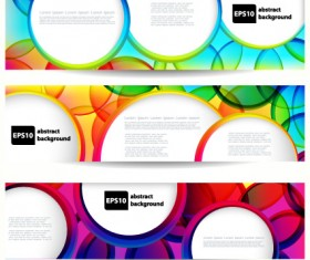Abstract banner with Colored circular design vector 02