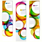 Link toAbstract banner with colored circular design vector 03