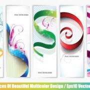 Link toSet of abstract info vertical banner vector 03