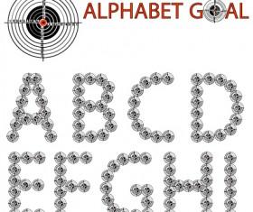 Creative Alphabet goal design vector 01