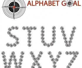 Creative Alphabet goal design vector 03