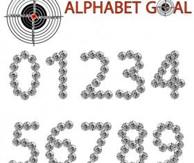 Creative Alphabet goal design vector 04