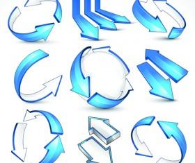 Creative Arrow logo design vector graphics 02