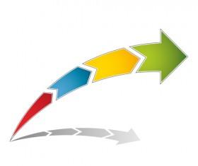 Logo of Arrows design vector 03