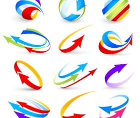 Logo of Arrows design vector 05