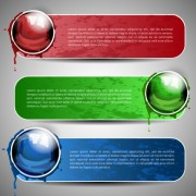 Link toSet of art banner for website vector 01