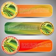 Link toSet of art banner for website vector 04