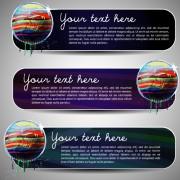 Link toSet of art banner for website vector 05