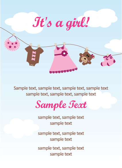 Set of Cute Baby backgrounds vector 01
