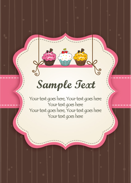 Set of Cute Baby backgrounds vector 03
