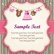 Link toSet of cute baby backgrounds vector 04