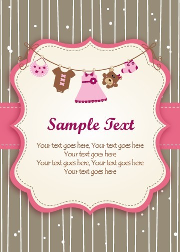Set of Cute Baby backgrounds vector 04