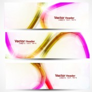 Link toVector set of abstract banner header graphics 04