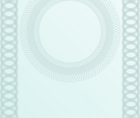 Vector set of Blank certificate and guilloche frame with pattern 02