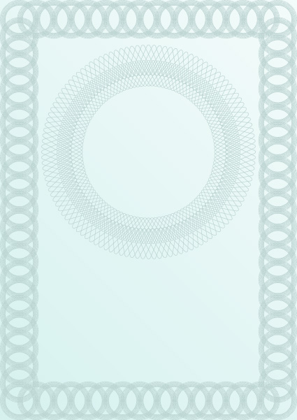 Vector set of Blank certificate and guilloche frame with ...