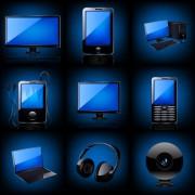 Link toDifferent blue icons appliances design vector 02