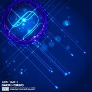 Link toAbstract blue light vector background art 04