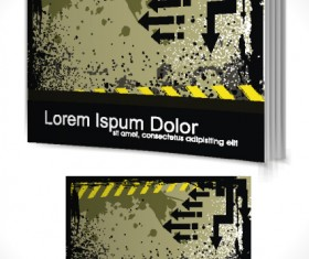 Set of Book cover design template vector graphics 01
