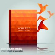 Link toCreative book with origami birds design vector 03
