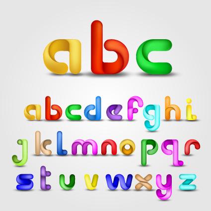 A Alphabet Design     alphabet design vector set