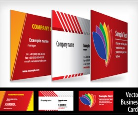 brochure and Business card design vector 01