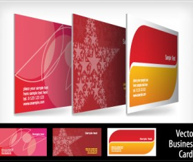 brochure and Business card design vector 02