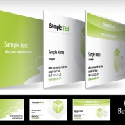 Link toBrochure and business card design vector 03