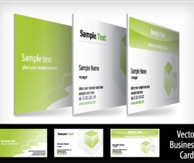 brochure and Business card design vector 03