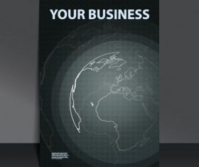 Business flyer with planet design vector 03