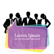 Link toSet of business talk vector backgrounds art 01
