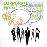 Link toSet of business talk vector backgrounds art 03