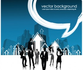 Set of Business talk vector backgrounds art 05