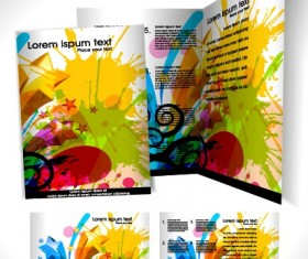 Business templates with cover brochure design vector 04
