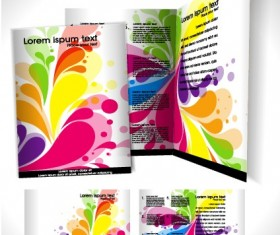 Business templates with cover brochure design vector 05