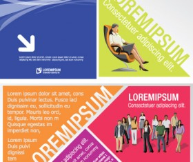 Business people with Business templates design vector 02