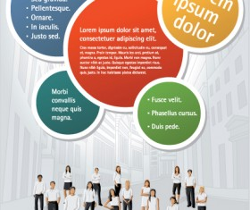 Business people with Business templates design vector 03