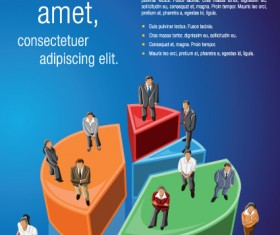 Business people with Business templates design vector 04