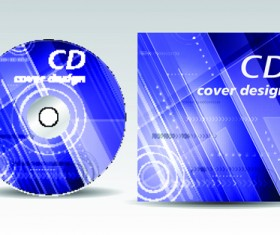 CD cover presentation vector template material 14