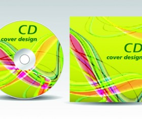 CD cover presentation vector template material 15