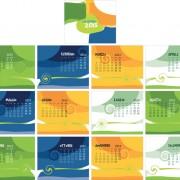 Link toSet of calendar grid 2013 design vector 01