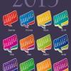 Set of Calendar grid 2013 design vector 03