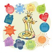 Link toSet of calendar grid 2013 design vector 06