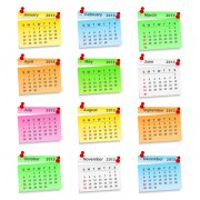 Link toSet of calendar grid 2013 design vector 08