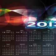 Link toSet of calendar grid 2013 design vector 09