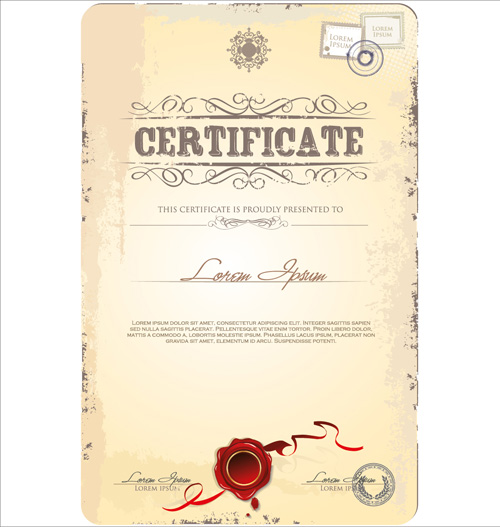 Cover of Certificate design template vector 03 Vector Cover free – Creative Certificate Designs