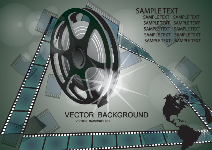 Vector set of Cinematograph backgrounds 01
