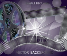 Vector set of Cinematograph backgrounds 04