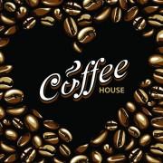 Link toSet of dark coffee vector background 04