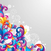 Link toSet of colored swirl vector backgrounds art 02
